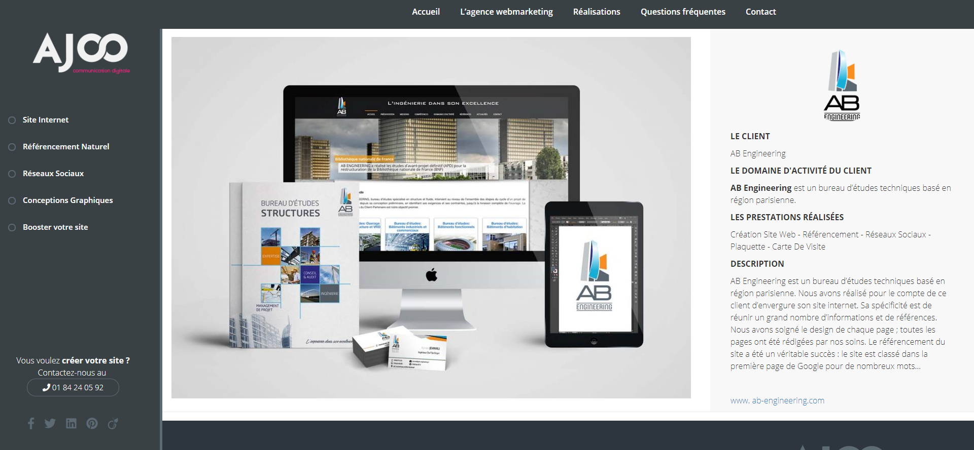 Création site internet pour société sécurité électronique - Ajoo Agence Web 0dc3e7dd21bd