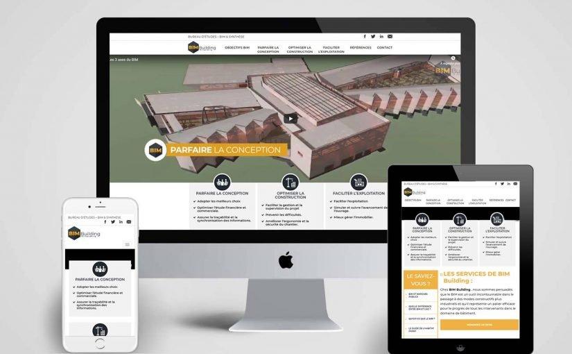 Création site internet pourune Société de Modélisation des Informations du Bâtiment-BIM