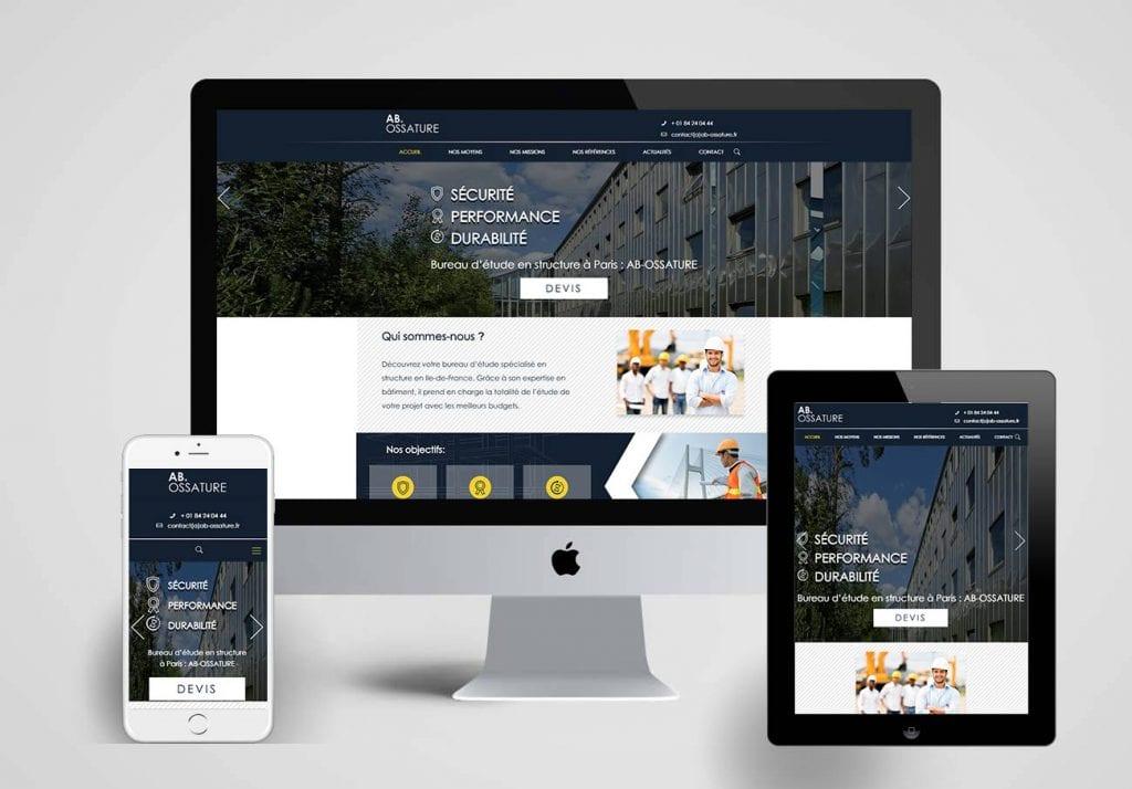 création du site internet d'un bureau d'étude en structure à paris