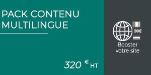 pack contenu multilingue site web