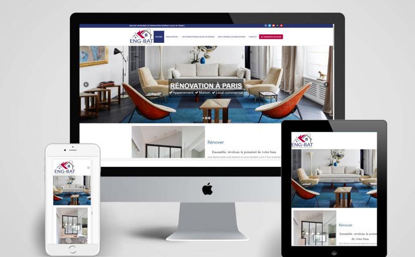 Création d'un site vitrine pour une société spécialisée dans la rénovation des bâtiments