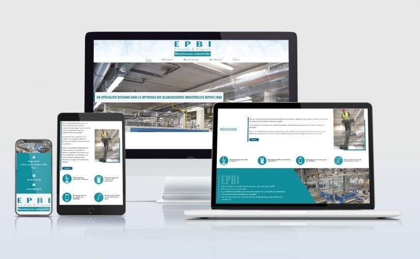 Création d'un site web pour une société de nettoyage industriel