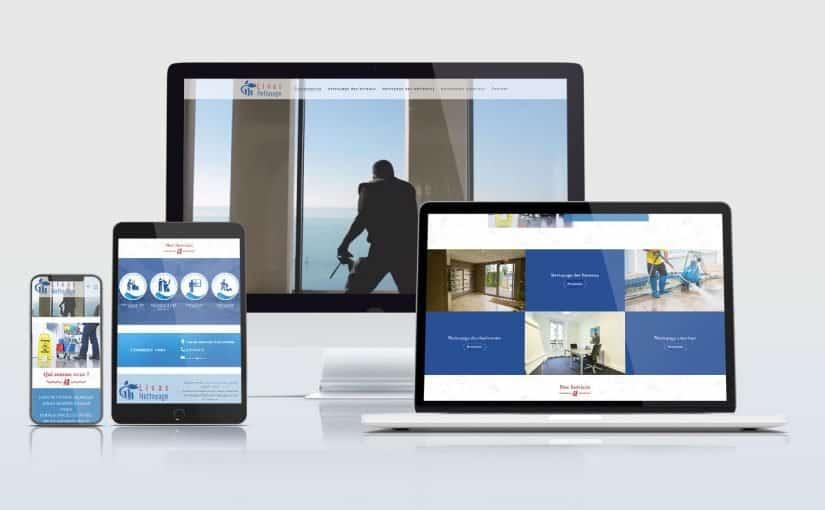 Création d'un site internet pour une société de nettoyage de bâtiments