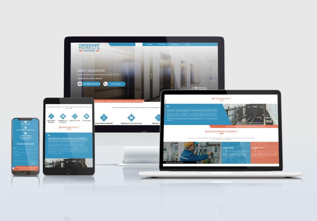 création site web direct ascenseurs