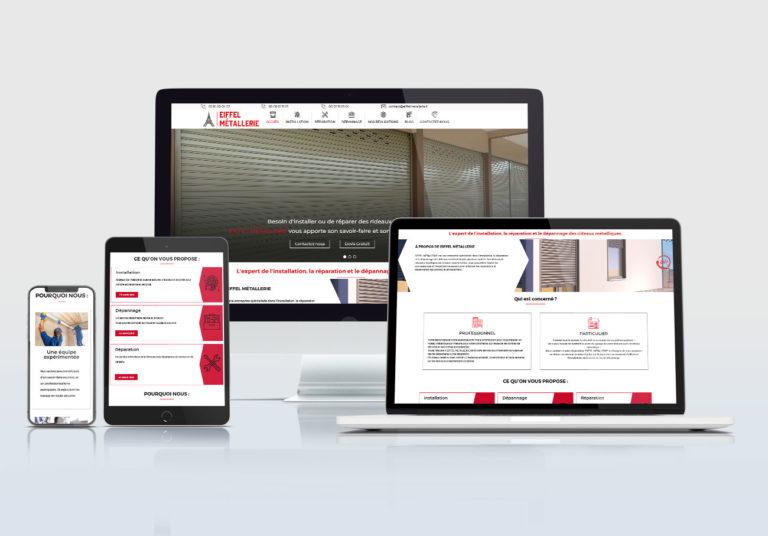 création site web rideaux métalliques